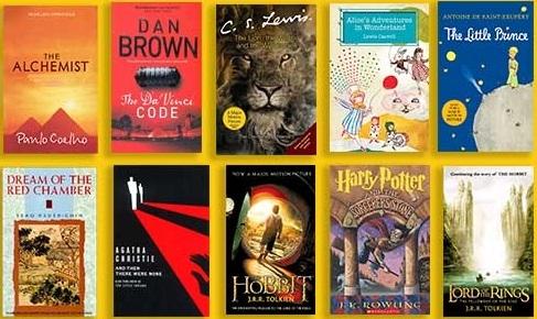 پرفروشترین کتاب ها و رمان های چاپ شده در جهان