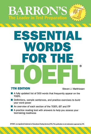 کتاب واژگان ضروری تافل ویرایش هفتم Essential Words for the TOEFL 7th