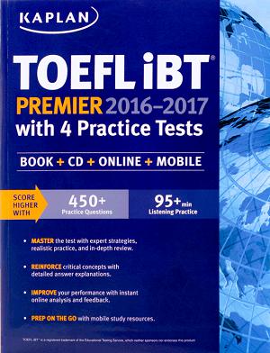 کتاب TOEFL iBT Premier Kaplan2016-2017+CD تافل کاپلان
