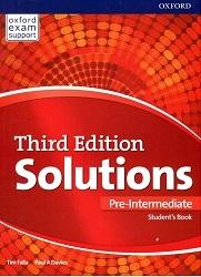 کتاب آموزشی سولوشنز پری اینترمدیت ویرایش سوم  Solutions Pre-Intermediate 3rd Edition