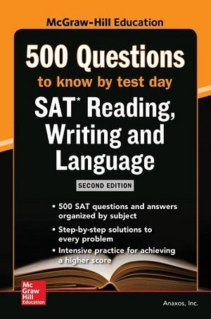 کتاب 500 SAT Reading Writing and Language Questions to Know by Test Day