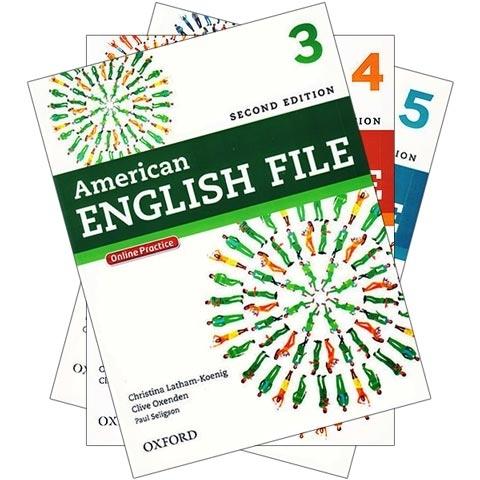پکیج 3 جلد آخر کتابهای امریکن انگلیش فایل ویرایش دوم American english file 2ND