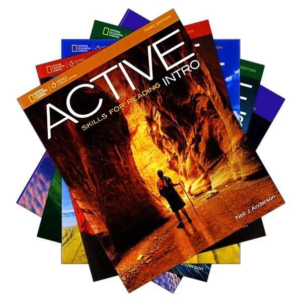 مجموعه 5 جلدی کتاب اکتیو اسکیلز فور ریدینگ ACTIVE Skills for Reading 3rd Edition