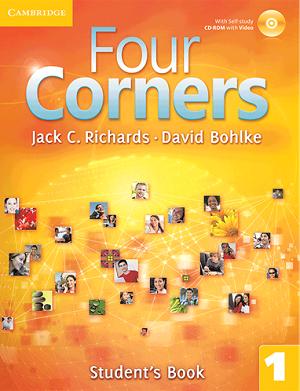 کتاب آموزشی فورکرنز 1 ویرایش اول Four Corners 1 Student Book and Work book with CD
