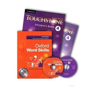 پک تاچ استون 4 و ورد اسکیلز Touchstone 4 + Oxford Word Skills Intermediate