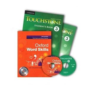پک تاچ استون 3 و ورد اسکیلز اینترمدیت  Touchstone 3+Oxford Word Skills Intermediate