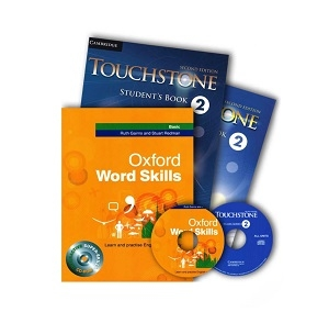 پک تاچ استون 2 و ورد اسکیلز بیسیک Touchstone 2 + Oxford Word Skills Basic
