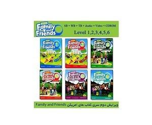 پک کامل امریکن فمیلی فرندز ویرایش دوم Family and Friends American + 1+2+3+4+5+6+CD