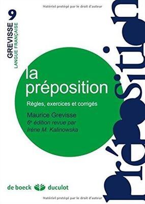 کتاب La preposition Regles, exercices et corriges
