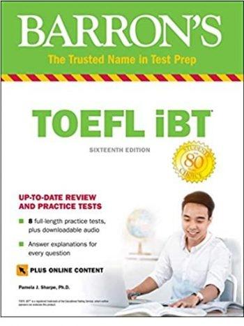 كتاب toefl ibt barrons 16th+DVD