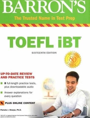 کتاب بارونز تافل آی بی تی ویرایش شانزدهم Toefl ibt Barrons 16th+DVD