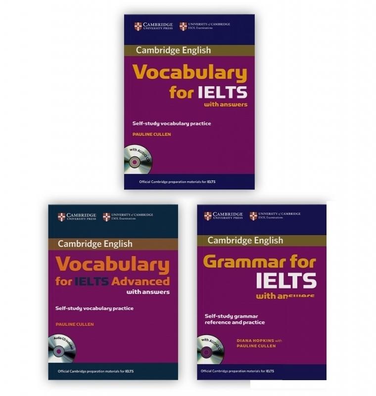 مجموعه 3 جلدی کمبریج وکبیولاری اند گرامر فور آیلتس Cambridge Vocabulary and Grammar for IELTS