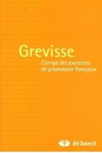 کتاب  Grevisse  Corrigdes exercices de grammaire francaise
