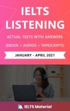 کتاب (IELTS Listening Actual Tests (Jan – April 2021