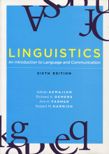 کتاب Linguistics An Introduction to Language and Communication sixth edition