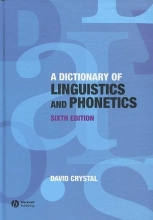 کتاب A Dictionary Of Linguistics and Phonetics Sixth Edition