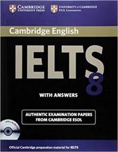 کتاب IELTS Cambridge 8+CD