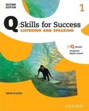 کتاب زبان کیو اسکیلز فور ساکسس Q Skills for Success 1 Listening and Speaking 2nd +CD