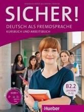 کتاب آلمانی SICHER ! B2.2 LEKTION 7-12 KURSBUCH UND ARBEITSBUCH + CD
