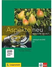 کتاب آلمانی اسپکته جدید Aspekte neu C1 mittelstufe deutsch lehrbuch + Arbeitsbuch mit audio-cd DVD