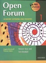 کتاب اپن فروم Open Forum 1 Student Book with Test Booklet & CD