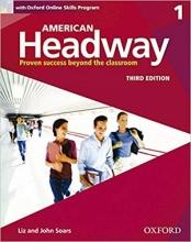 کتاب امریکن هدوی 1 ویرایش سوم American Headway 1 3rd SB+WB+DVD
