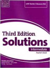 کتاب معلم سولوشنز اینترمدیت ویرایش سوم Teachers Book Solutions Intermediate 3rd +Cd