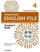 کتاب معلم امریکن انگلیش فایل 4  ویرایش دوم  American English File 4 Teachers Book+CD 2nd Edition