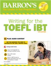 کتاب بارونز رایتینگ فور د تافل آی بی تیBarrons Writing For The TOEFL IBT6TH+CD