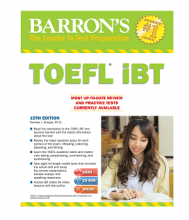کتاب تافل بارونز آی بی تی Barrons TOEFL iBT 15th+DVD