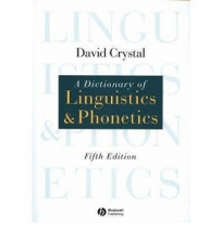 کتاب A Dictionary of Linguistics and Phonetics 5th Edition