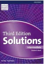 کتاب آموزشی سولوشنز اینترمدیت ویرایش سوم Solutions Intermediate 3rd Edition