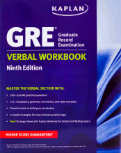 کتاب New GRE Verbal Workbook KAPLAN 9th