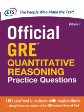 کتاب Official GRE Quantitative Reasoning Practice Questions