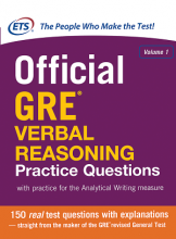 کتاب Official GRE Verbal Reasoning Practice Questions