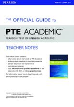 کتاب The Official Guide to PTE Academic - Teacher Notes