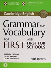 کتاب Grammar and Vocabulary for First and First for School