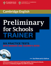 کتاب Cambridge English Preliminary for Schools Trainer+CD