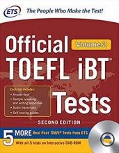 کتاب ای تی اس آفیشیال تافل آی بی تی ETS Official TOEFL iBT Tests 2nd - Volume 2+ DVD