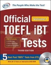 کتاب ETS Official TOEFL iBT Tests 3rd - Volume 1+ DVD