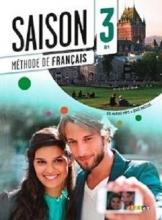 کتاب فرانسوی سزون Saison niveau 3 B1 - livre de l'eleve + cahier + dvd