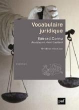 کتاب Vocabulaire juridique 12 edition