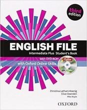 کتاب آموزشی انگلیش فایل اینترمدیت پلاس ویرایش سوم  English File intermediate plus students book 3rd