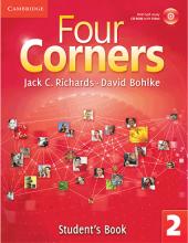 کتاب آموزشی فورکورنرز 2 ویرایش اول Four Corners 2 Student Book and Work book with CD