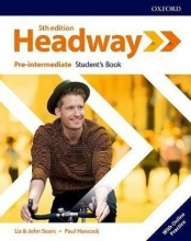 كتاب هدوی پری اینترمدیت ویرایش پنجم Headway Pre-Intermediate 5th edition st + wb + DVD