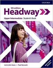 كتاب هدوی آپر اینترمدیت ویرایش پنجم  Headway Upper-intermediate 5th edition st + wb + DVD