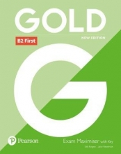 کتاب  Gold B2 First Coursebook + Maximiser with Key