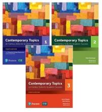 پک کامل کتاب کانتمپروری تاپیک ویرایش چهارم Contemporary Topics (4th) 1+2+3+cd