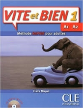 کتاب فرانسه ویت ات بین ویرایش قدیم VITE ET BIEN 1 A1 A2 METHODE rapide pour adultes