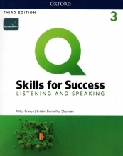 كتاب Q Skills for Success 3 Listening & Speaking (3rd)+DVD